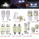 14Pcs Car White LED Lights Kit for Stock Interior & Dome & License Plate Lamps Y