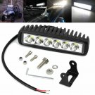 6inch 36W Slim Led Light Bar Spot Flood Motorcycle ATV 4X4WD Bumper Backup Pods