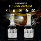 H7 20000LM 200W LED Headlight Kit Bulbs Low Beam High Power 6500K White CANBUS