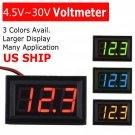 1x Digital LED Display Voltmeter Voltage Gauge Panel Meter For Car Motorcycle