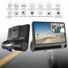 Dual Lens 4'' HD 1080P Vehicle Car Dash Cam Rear Video Camera Recorder DVR 170°