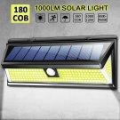1000LM 180 COB LED Solar Wall Light Outdoor Garden Security Lamp Motion Sensor Y