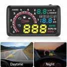 W02 HUD Auto Head Up Display Film 5.5Inch Windshield OBD2 Car Speed Display CHY