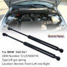 2x Quality Front Hood Shock Gas Pressurized Support Damper Strut For BMW E60/E61