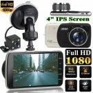 4'' Dual Lens Camera HD 1080P Car DVR Vehicle Video Dash Cam Recorder G-Sensor Y