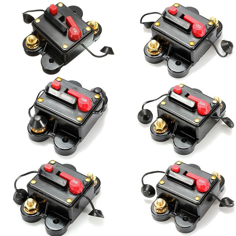 100-300A AMP Circuit Breaker Car Marine Stereo Audio Inline Replace Fuse 12V-24V