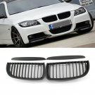 2pcs Front Bumper Kidney Grill Matte Black For BMW E90 Sedan E91 4-Door 05-08