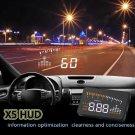 "X5 3"" Car HUD Projector Head Up Display Speed Warning Fuel OBD II Speedometer CY"