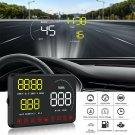 "A9 5"" Car HUD Head Up Display OBDII OBD2 Speed Warning System Fuel Consumption"