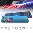 "4.3"" 1080P LTPS Mirror + Car DVR Dash Cam Reverse Rear View Backup Camera 170°"
