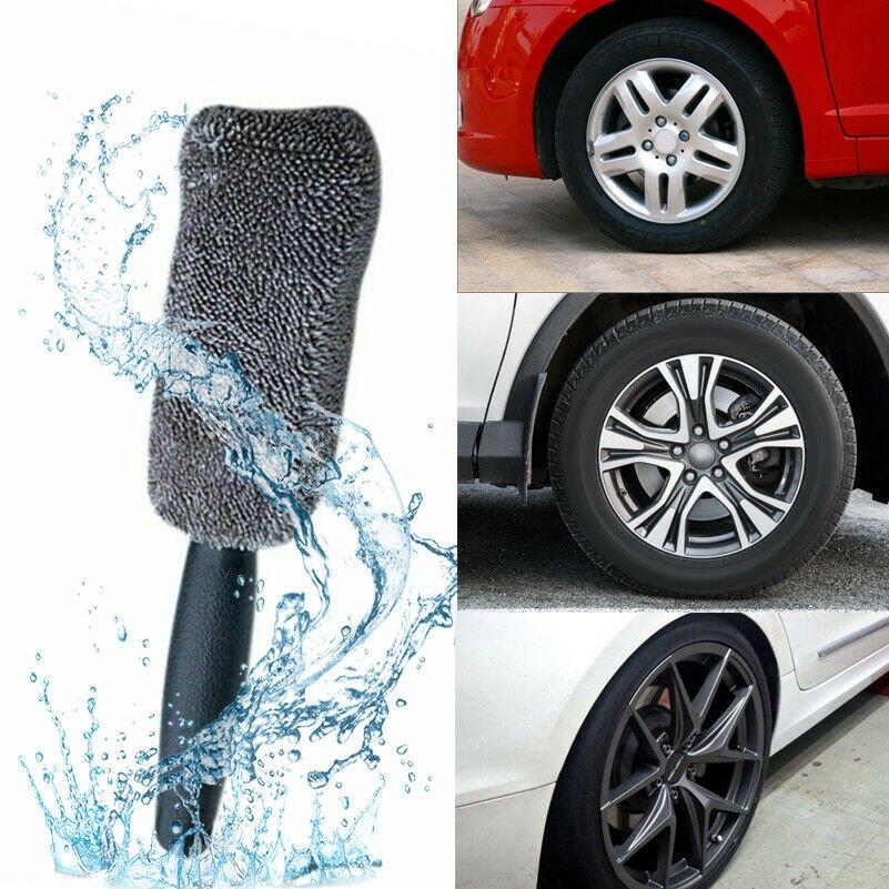 1xVehicle Car Motorbike Wheel Tire Rim Scrub Brush Washing Cleaning Tool Cleaner