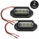 2X Universal 6-SMD LED License Plate Tag Light Lamps For Truck SUV Trailer Van Y