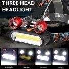 15000LM 2 x XM-L T6 LED COB Rechargeable 18650 Headlamp Head Light Torch Set CHY