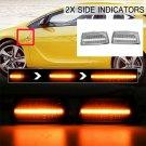 2x Clear Dynamic Side Marker Light Indicator For Adam Opel Corsa Insigina Meriua