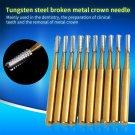 10pcs /set High Speed Dental Tungsten Steel Crown Metal Cutting Burs
