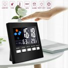 Digital Display Thermometer humidity clock Colorful LCD Alarm Calendar Weather Y