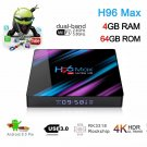 H96 MAX RK3318 Smart TV BOX Android 9.0 4GB 64GB Quad Core 1080p 4K LED screen Y