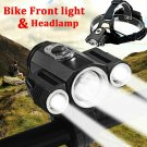 35000LM Zoomable Headlamp T6 LED Headlight Lamp Flashlight+Charger+18650battery