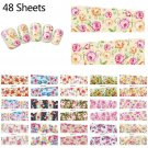 48pcs Flower Nail Art Full Wraps Nail Sticker Decals Water Transfer Manicure