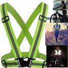 Security Reflective Vest High Visibility Safety Belt Stripe Strap Night Running