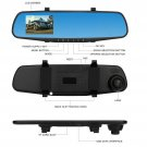 "1080P Wide Angle Len Vehicle Mirror Car DVR Camera 4.3"" Driving Recorder New"