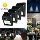 30LED Solar Power Light PIR Motion Sensor Garden Security Outdoor Wall Lamp CHY