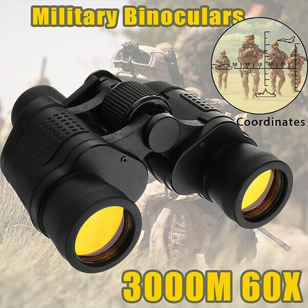 Telescope 60x60 Military Army Zoom Ultra HD Binoculars Optics Hunting Camping Y