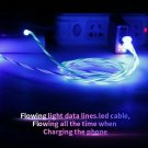 USB 3.0/2.0 Type-C Flowing LED Glow Light USB Data Sync Charge Cable for Android