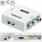 Mini Composite 1080P HDMI to RCA Audio Video CVBS AV Adapter Converter For HD TV