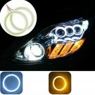 Pair Car Headlight LED Halo Rings Angel Eyes Light 120mm Yellow/White Replace