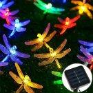 Outdoor Solar Powered 20LED Dragonfly String Light Garden Xmas Yard Lamp Decor Y