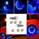 Universal 2x Blue LED Autos Wheel Tyre Tire Air Valve Stem Cap LED Light Lamp HY