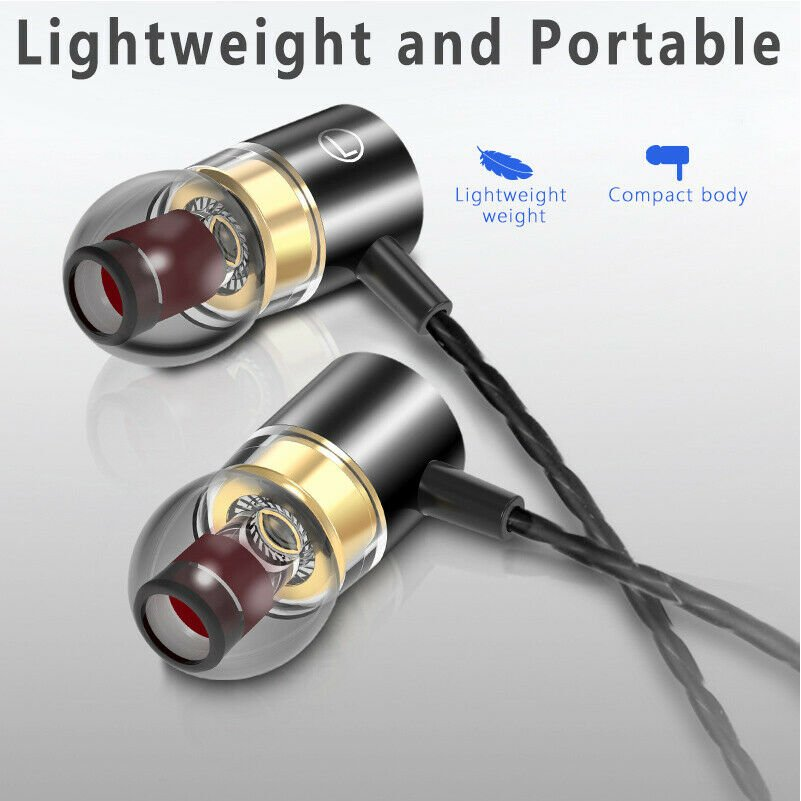 NEW HIFI Bass Headset 3.5mm In-Ear Earphones Stereo Earbuds Headphones Wired CHY