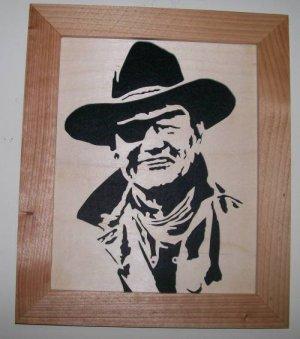 JOHN WAYNE SCROLL SAW PORTRAIT 002