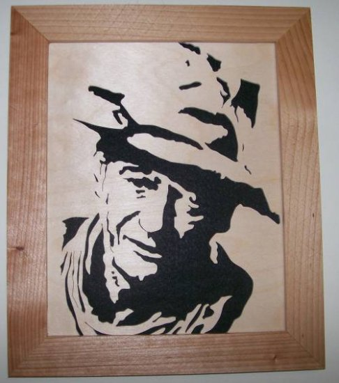 JOHN WAYNE SCROLL SAW PORTRAIT 001