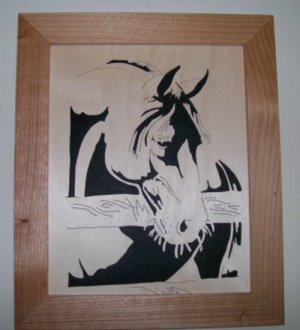 Whiskers Scroll Saw Picture