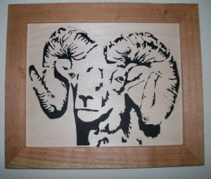 Bighorn Sheep Scroll Saw Picture