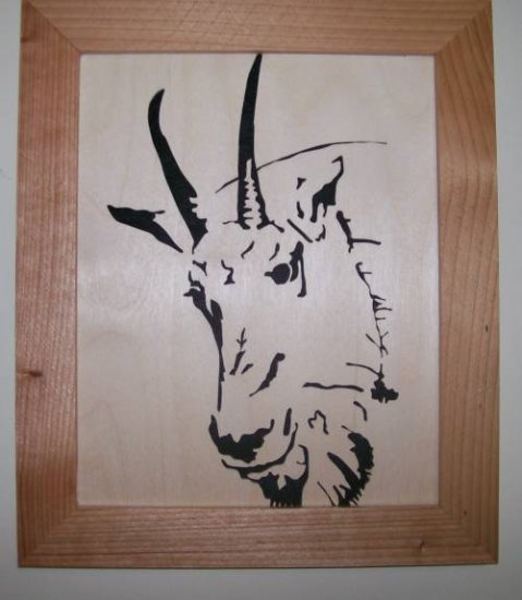 Mountain Goat Scroll Saw Picture