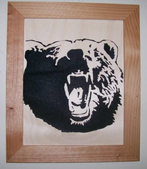 Grizzly Bear Scroll Saw Picture