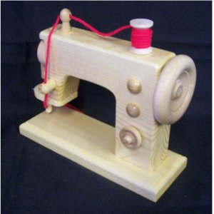 TOY WOODEN SEWING MACHINE