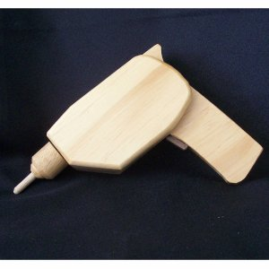 TOY WOODEN ELECTRIC DRILL