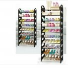 10 Tiers 30 Pairs Standing Metal Shoe Shelves Shelf Rack Storage Tower Organizer