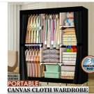 "71"" Portable Clothes Storage Closet Organizer Shelf Wardrobe Rack Shelves Fabric"