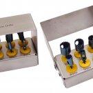 8 Pcs Dental Implant Trephine Drills Surgical Surgery & Bur Holder Kit