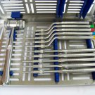 Sinus Lift Osteotomes Kit Straight Off Set Concave Mead Mallet Cassette Dental Implant