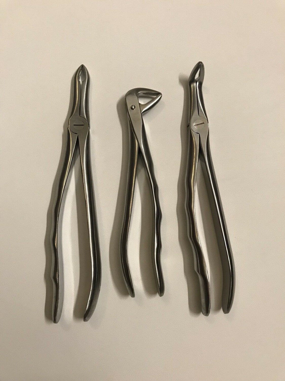 Root Tip Extracting Forceps 3 PCs Set Dental Instruments