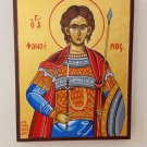 Saint Phanourios - Hand-painted, Orthodox icon, with acrylic colors on plywood
