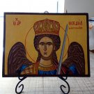 Archangel Michael of Mantamados - Hand-painted, Orthodox icon, with acrylic colors on plywood