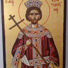 Saint Constantine the Great - Hand-painted, Orthodox icon, with acrylic colors on plywood