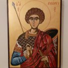 Saint George - Hand-painted, Orthodox icon, with acrylic colors on plywood